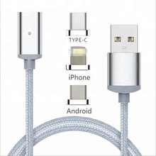 2.4A Magnetic Type-C Micro USB Charging Cable Charger Adapter for Samsung