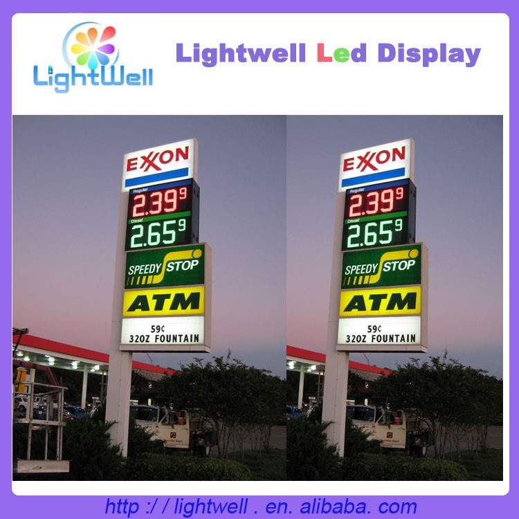 Wholesale Alibaba Outdoor Gas Station Price Signs For Sale