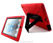 Heavy duty drop resistant kickstand silicone case for iPad 3 4 tablet shell