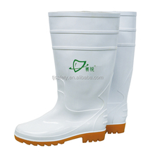 Cheap white pvc wellies security guard safety boots for food