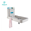 Anti-bacterial PE Wall Mounted Fold-able Baby Diaper Changing Station