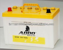 MF Car Batteries 12V 75AH.