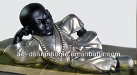 POLYRESIN LYING MONK STATUE