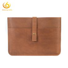 Wholesale PU Leather Protective Cover / Genuine Leather Laptop Sleeve Case Bag