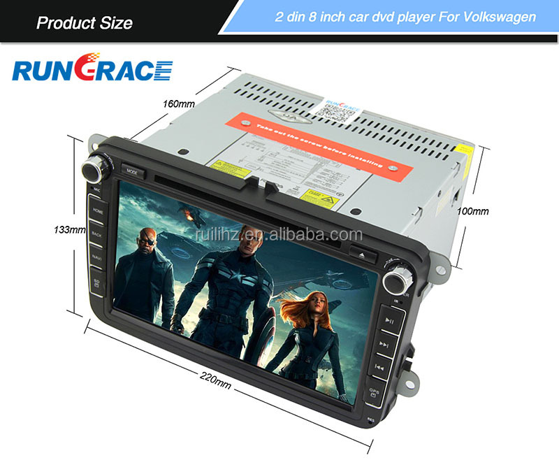 RUNGRACE android double din touch screen audio car navigation and entertainment system for vw