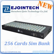 Ejoin new product sim pool/box 256 sims 8 port gsm gateway 32 ports voip gsm gateway with EBO/SBO