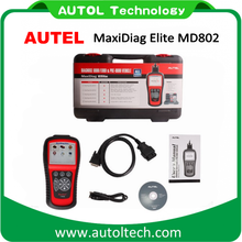 Car scanner autel md802 MaxiDiag Elite MD802 ALL Systems Engine Transmission ABS Airbag EPB OIL Service Reset Scan Tool