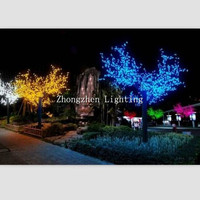 180cm outdoor artificial flower with led lights