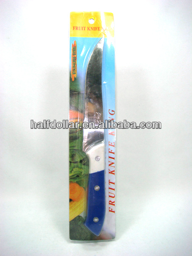 1pc High Quality and professional Kitchen Serrated Knife, Chef Knife with Plastic Handle For One Dollar Item