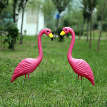 Plastic Material and Ornaments Type home and garden decoration Pink Flamingo for Graden yard lawn Bird animal art decoration
