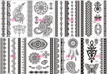 2015 Hot sales factory supply waterproof temporary henna sticker tattoo for hands