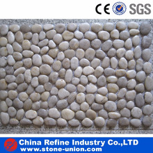 White river stone pebbles landscape stone on mesh