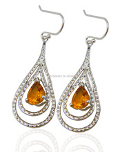 SGE0009 china alibaba beat selling jewelry charming 925 sterling silver drop rhinestone dangle earrings