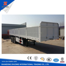 used/ new brand 13m Fuwa axle side wall open platform semi trailer price