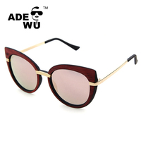 italy 2016 latest fashion cat 3 uv400 sunglasses with pink mirror lens