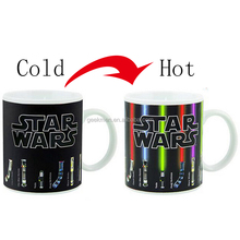 The Force of Heat Lightsaber Heat Changing Mug Light Saber Ceramic Coffee <strong>Cup</strong>
