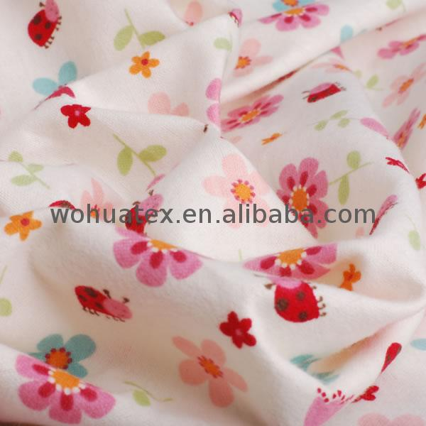 dyed and printed cotton flannel fabric duster 20x10 40x42