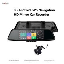 7 inch Dual Lens Touch Screen android gps car camera Quad Core 1.3GHZ 1080P GPS Navigation 1GB RAM 16GB ROM Mirror Car Dvr