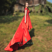 women's sexy long evening dress knee length high-low formal evening dress for dinner party