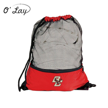 Most Popular Promotional Nylon Mesh Drawstring Backpack Bag