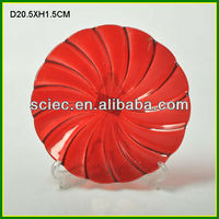 Red Glass Charger Plate