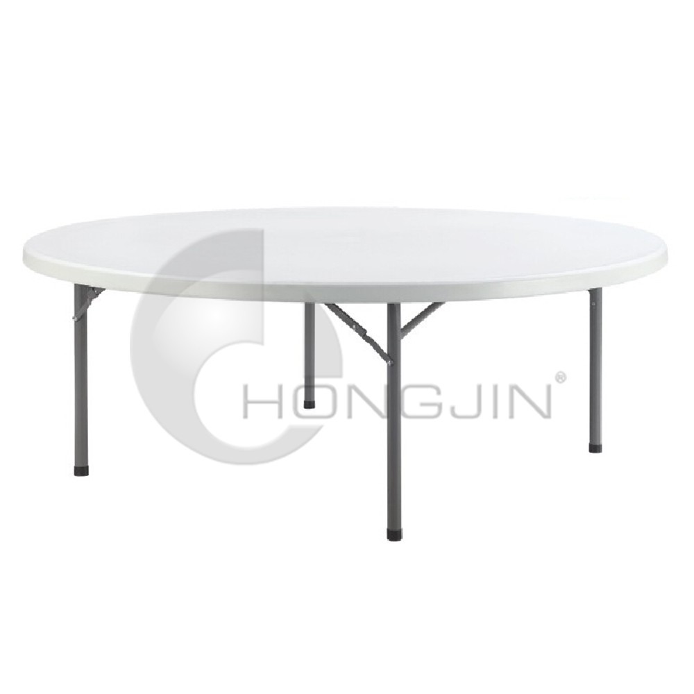 Hongjin Compact Camping HDPE Plastic Round Tables