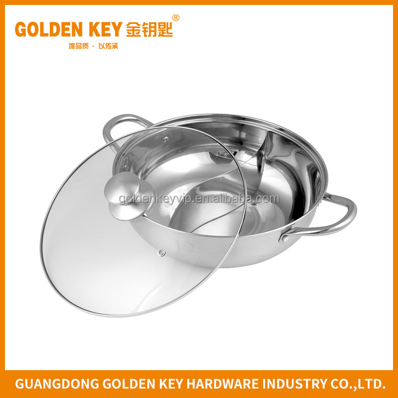 High Quality Stainless Steel Hot Pot Divided Restaurant Equipment for Sale