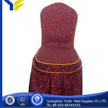hotel Guangzhou spandex/polyester satin chair cover wrap