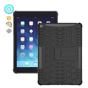 Rugged Kickstand case for Ipad air 2 cover shockproof case for ipad 6 back cover tpu