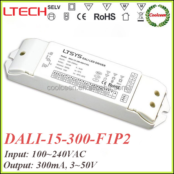 LTECH DALI-15-300-F1P2 300ma dali dimmable led lighting driver