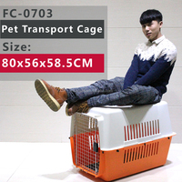 Dog Kennels / Plastic Pet Cage with Tray & Wheels(Optional)--Each Sizes