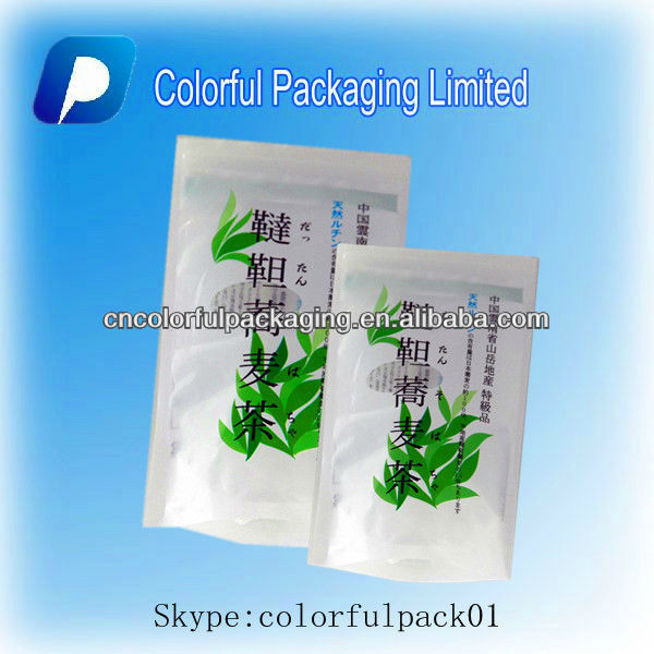 Plastic window stand up pouch tea coffee pouches/Kraft paper packaging bags with printing