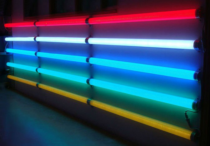 single color LED Fence Protect Tube,108pcs 5mm dip leds,1m long,AC110V/220V input;milky cover