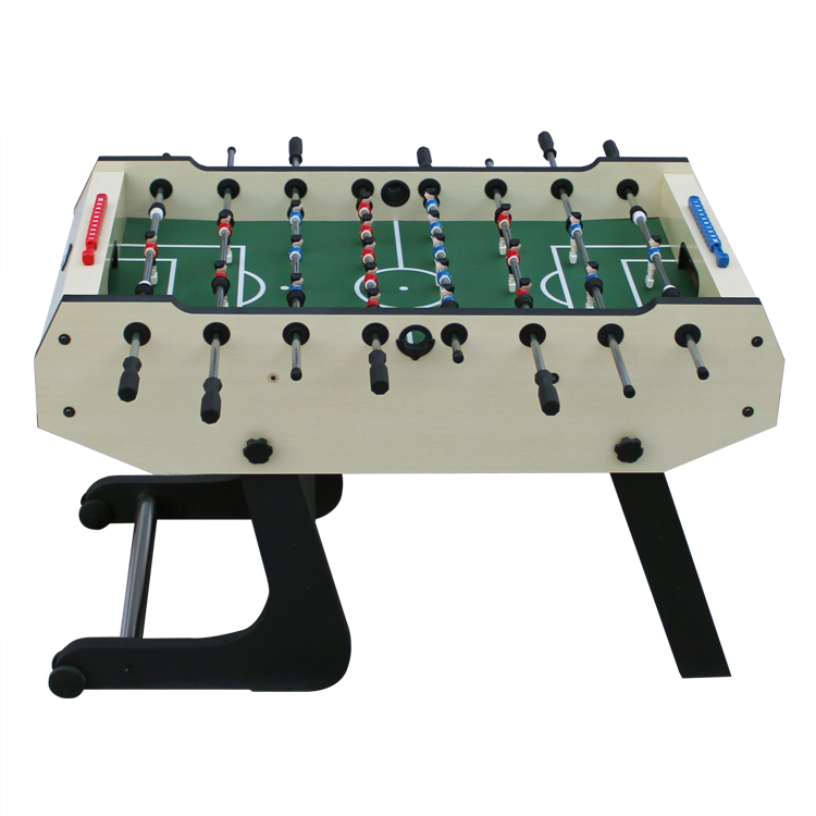 Superior Mdf Home Play Folding Moving Foosball Table With Wheels