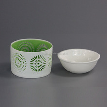 Wholesale Simple White Ceramic Bulk Oil Burners For Tealight Candles