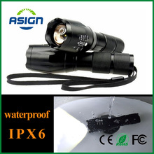 DHL Free LED Flashlight T6 ZOOM Waterproof Lanterna LED 5 Modes Zoomable AAA or 18650 battery Flashlight Torch Lamp 50 pieces