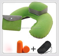 Neck pillow with eyemask, earplugs , airplane travel sleeping kits
