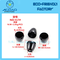 Customized Black Plated Bead End Caps Stopper/Metal Bell Stopper