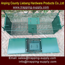 Humane LIve Animal Two Door Green Powder Painted Large Animal Trap Pest Control China Direct Factory