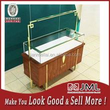 Shopping mall retail used glass jewelry display cases wooden display cabinet
