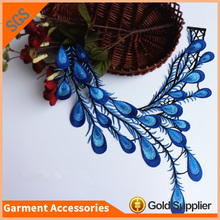 Fancy Applique Work Design Peacock Feather Embroidery Patches