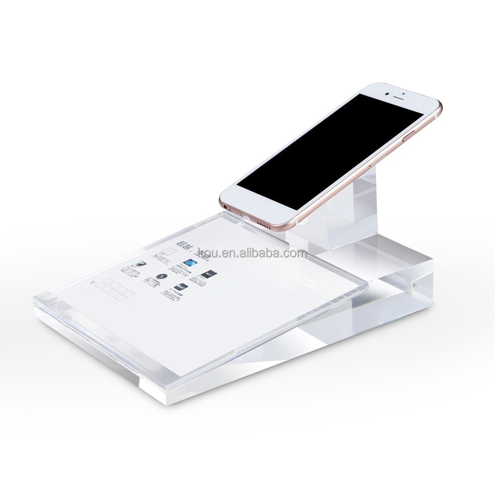 Shenzhen retail all-purpose acrylic crystal mobile phone display holder for store