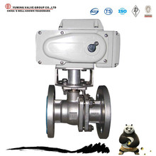 electric actuated flange Stainless Steel floating ball valve price