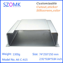 74*250*250mm Push and Pull Top Cover IP54 Wall Mount Aluminum Case Large Modern Housing for Electronics Project
