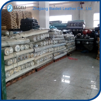 factory price hign quality pvc pu synthetic leather stocklots