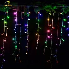 Icicle shaped shinning multicolor led home decor curtain icicle light