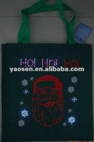 cheap non woven christmas gift bag with LED light