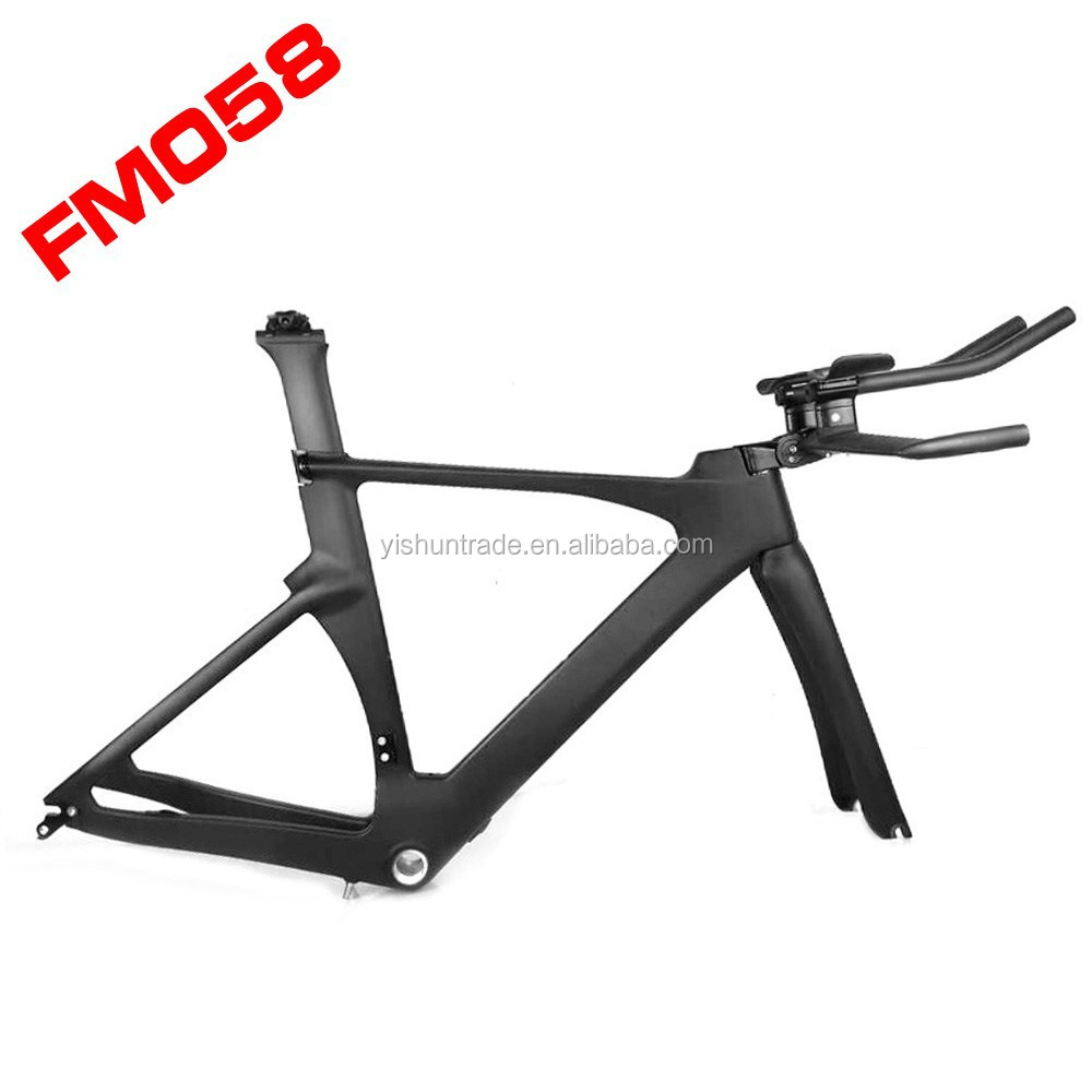 2015 YISHUNBIKE solid tt carbon frame PF30/BB30 Time Trial Chinese carbon bike frame YS-058