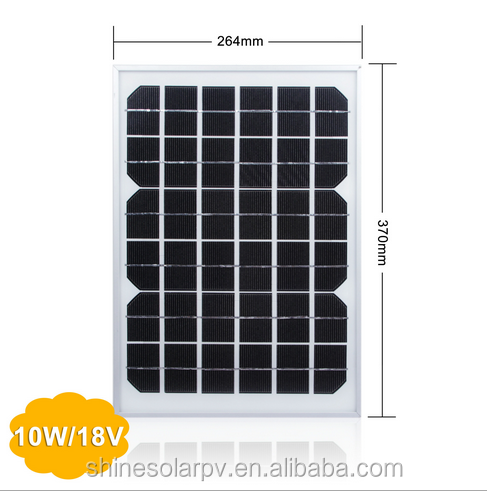 5w 10w 15w 20w Monocrystalline Silicon Rigid Solar Panel Price per Watt TUV IEC CE ROHS Certification