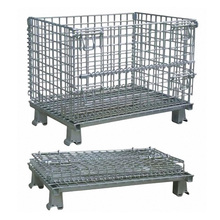 Industrial Stackable Storage Steel Wire Mesh Containers